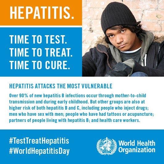 La OMS insta a los países a invertir en la eliminación de la hepatitis