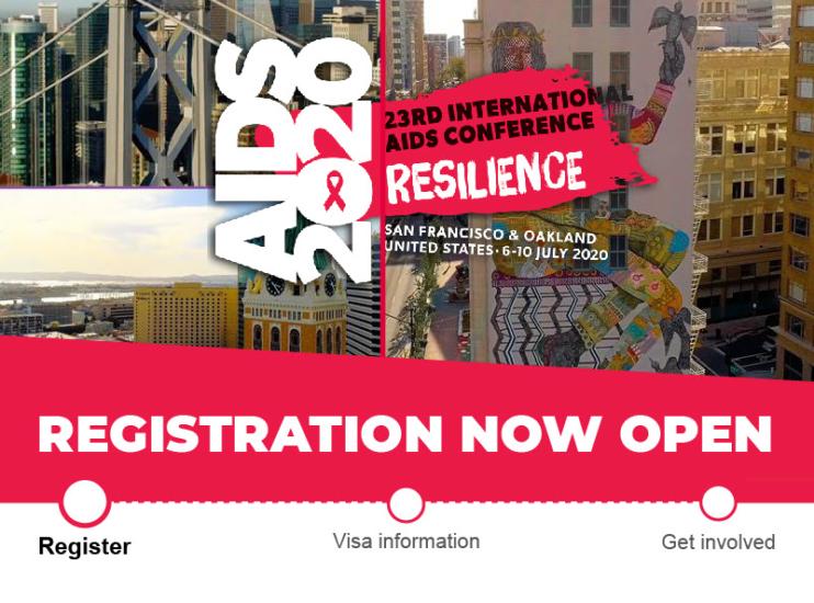 Las inscripciones para la 23ª Conferencia Internacional sobre el SIDA (AIDS 2020) ya están abiertas.