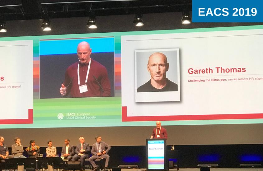 La estrella del rugby Gareth Thomas habla en contra del estigma del VIH en la Conferencia Europea sobre el SIDA