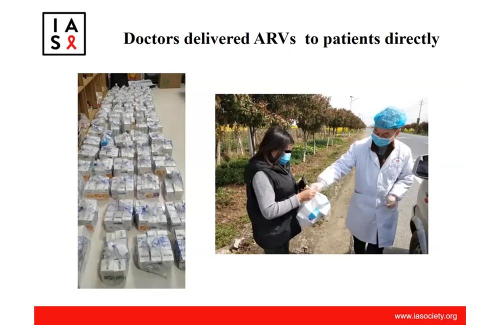 COVID-19 y servicios de VIH en en algunos países.