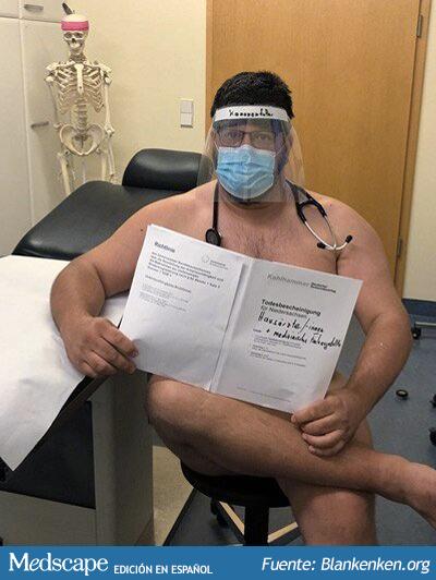 Médicos alemanes protestan desnudos por falta de equipos de protección personal