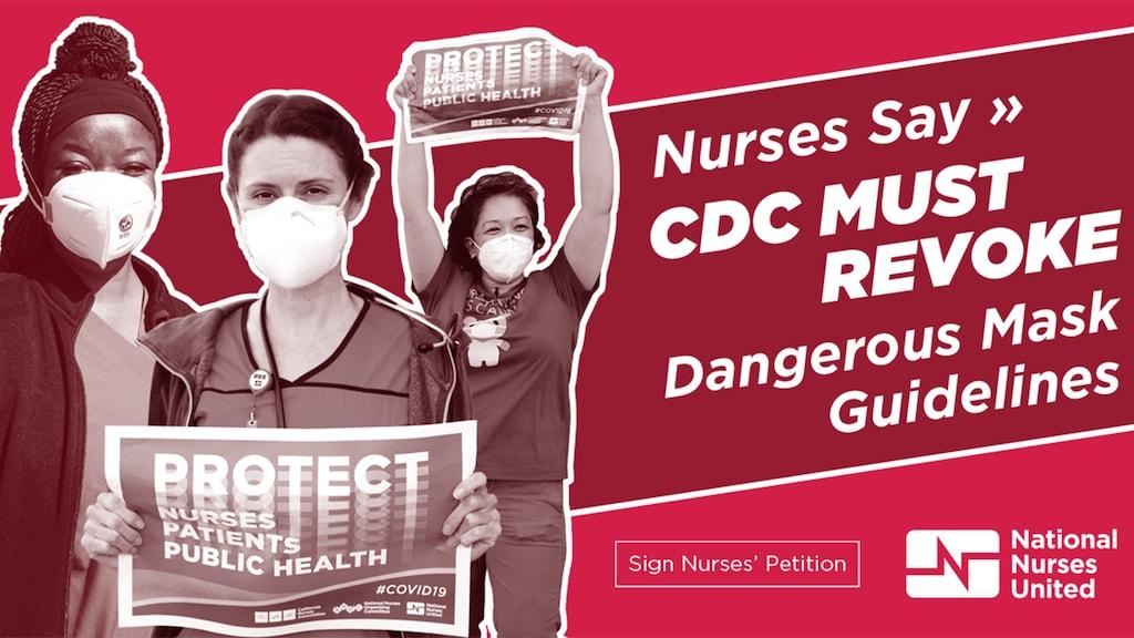 Sindicato de enfermeras critican las nuevas pautas del los CDC sobre el uso de mascaras
